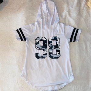 tee shirt with hood